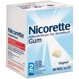 Nicorette 2mg Original Gum (200 ct.)