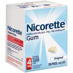 Nicorette 4mg Original Gum (200 ct.)