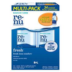 Bausch & Lomb Renu Fresh Multi-Purpose Cleaning Solution - 16 oz. bottles - 2 pk.