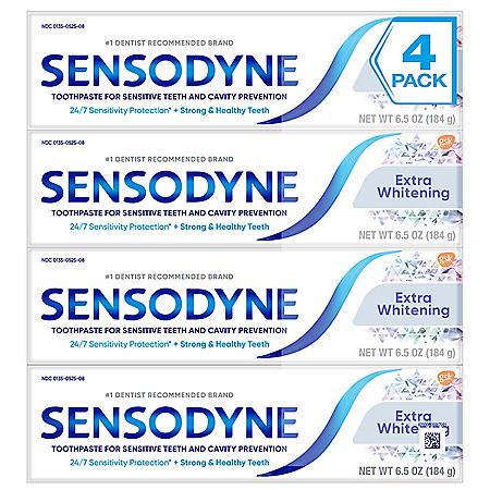 Sensodyne Extra Whitening Toothpaste (6.5 oz., 4 pk.)