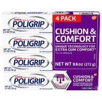 Poligrip Cushion & Comfort, Denture Fixative Cream (2.4 oz., 4 pk.)