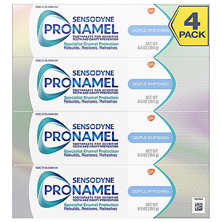 Sensodyne Pronamel Gentle Whitening Toothpaste for Sensitive Teeth, Alpine Breeze (6.5 oz., 4pk.)