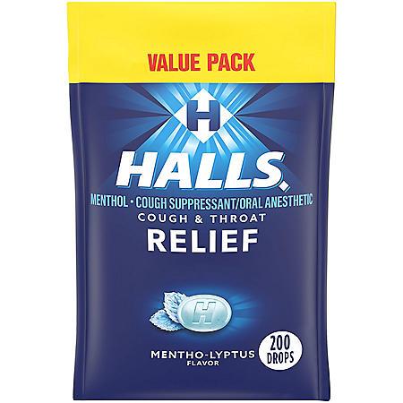 Halls Menthol Flavor Cough Drops (200 ct.)