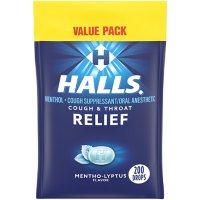 HALLS Relief Mentho-Lyptus Cough Drops, Value Pack (200 ct.)