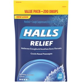 Halls Menthol Flavor Cough Drops (200 ct.)