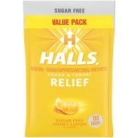 Halls Relief Honey Lemon Sugar-Free Cough Drops Value Pack (180 ct.)