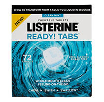 Listerine Ready Tabs Mint Chewable Tablets (72 ct)