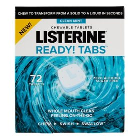 Listerine Ready Tabs Mint Chewable Tablets (72 ct.)