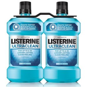 Listerine Ultraclean Arctic Mint Antiseptic Mouthwash (1.5L, 2pk.)