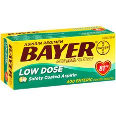 Bayer Low Dose Aspirin Regimen (400 ct.)