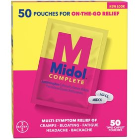 Midol 2-Pill Pouches with Acetaminophen (50 ct.)