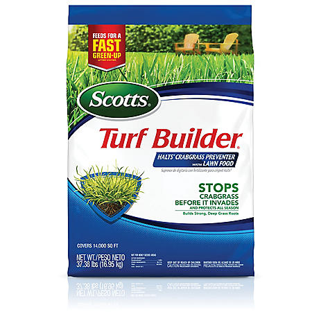 Scotts Turf Builder Halts Crabgrass Preventer with Lawn Food, 37.38 lb.