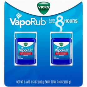 Vicks VapoRub Cough Suppressant Topical Analgesic Ointment Twin Pack (7.06 oz.)