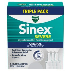 Vicks Sinex Severe Nasal Decongestant Spray Triple Pack (1.5 fl. oz.)