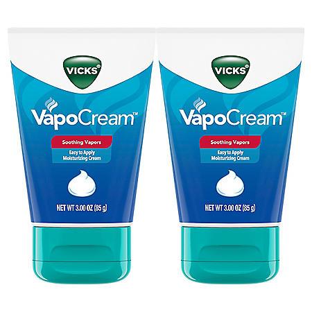 Vicks VapoCream, Soothing and Moisturizing Vapor Cream (3 oz. ea., 2pk.)