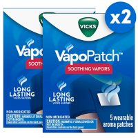Vicks VapoPatch with Long Lasting Soothing Vicks Vapors for Adults (5 ct., 2pk.)