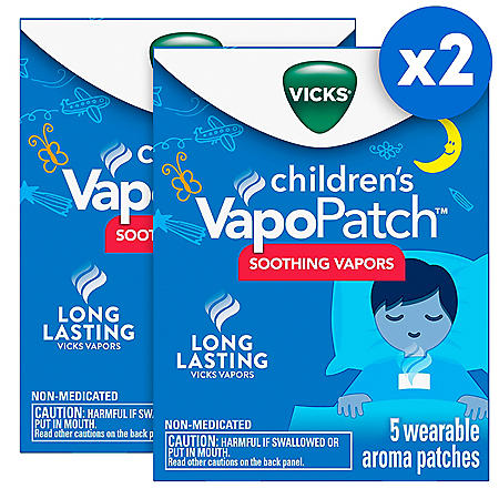 Vicks VapoPatch with Long Lasting Soothing Vicks Vapors for Children (5 ct., 2 pk.)