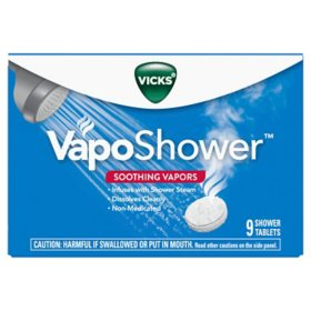 Vicks VapoShower, Shower Tablet, Shower Bomb, Aromatherapy Vapors (9 ct.)