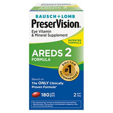 Bausch + Lomb PreserVision AREDS 2 Formula Supplement (180 ct.)