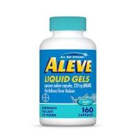 Aleve Naproxen Sodium Liquid Gels, 12HR Pain Relief (160 ct.)