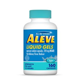 Aleve Liquid Gels with Naproxen Sodium, Pain Reliever and Fever Reducer, 220 mg (160 ct.)