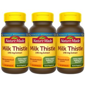 Nature Made Milk Thistle 140mg Capsules (50 ct., 3 pk.)