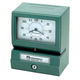 Acroprint Model 150ER3 Heavy-Duty Automatic Print Time Clock