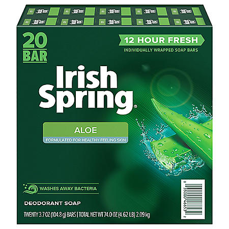 Irish Spring Aloe Deodorant Bar Soap (3.75 oz., 20 ct.)
