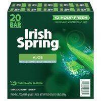 Irish Spring Aloe Bar Soap (3.7oz., 20ct.)