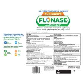 Children's Flonase Allergy Relief, Nasal Spray, 2-Pack (120 Metered