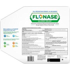 FLONASE Allergy Relief Nasal Spray (144 sprays per bottle, 3