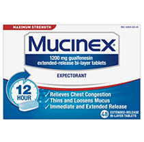 Mucinex 12 Hr Max Strength Chest Congestion Expectorant Tablets (48 ct.)