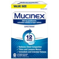 120ct Mucinex 12-Hour Chest Congestion Expectorant Tablets