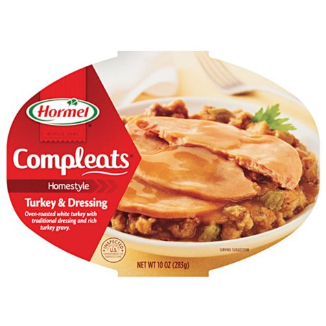Hormel Compleats Turkey and Dressing - 10 oz. Bowl - 6 ct.