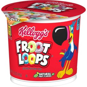 Kellogg's Froot Loops Breakfast Cereal in a Cup (12 ct.)