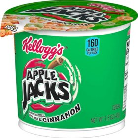 Kellogg's Apple Jacks Breakfast Cereal in a Cup (12 ct.)
