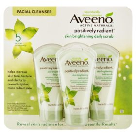 Aveeno Positively Radiant Skin Brightening Exfoliating Daily Facial Scrub (5 fl. oz., 3 pk.)
