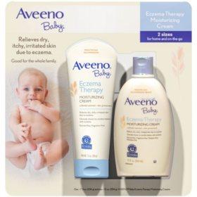 Aveeno Baby Eczema Therapy Moisturizing Cream (7.3 oz. & 12 fl. oz.)