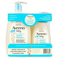Aveeno 2-in-1 Baby Wash and Shampoo with Natural Oat Extract (33 fl. oz. and 12 fl. oz.)