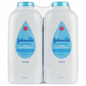 Johnson's Baby Powder Aloe and Vitamin E (22 oz., 2 pk.)