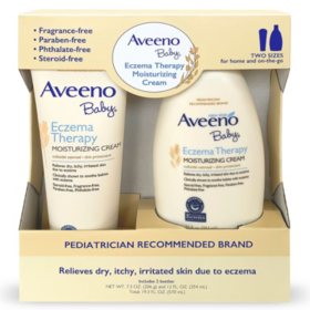 Aveeno Baby Eczema Therapy Moisturizing Cream with Natural Oatmeal (1- 7.3 oz. and 1- 12 fl. oz.)