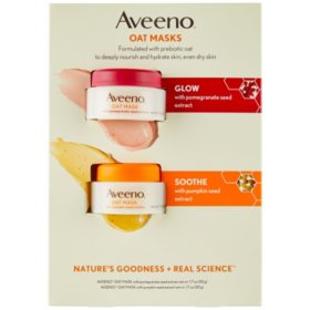 Aveeno Oat Face Mask Dual Pack, Pumpkin and Pomegranate Seed Extract (1.7 oz. ea., 2 pk.)