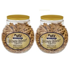 Utz Honey Wheat Braided Twists Pretzel Barrels (56 oz., 2 ct.)