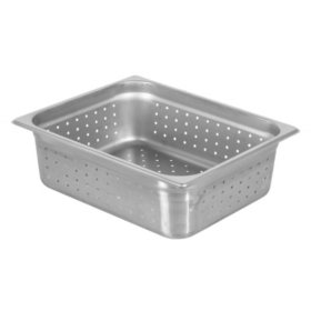 Chef's Supreme Full-Size Food Pan, Perforated (Choose Your Depth)