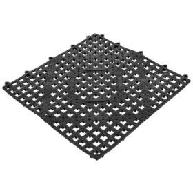"""Mr. Tonic Black Bar Tile Mat, 12"""" x 12"""" (3 pk.)"""