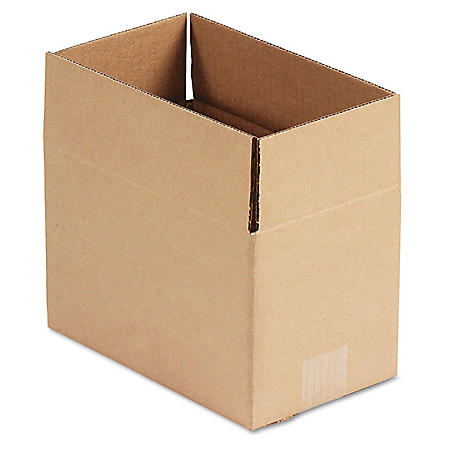 """General Supply Brown Corrugated - Fixed-Depth Shipping Boxes, 10"""" L x 6"""" W x 6"""" H, 25/Bundle"""