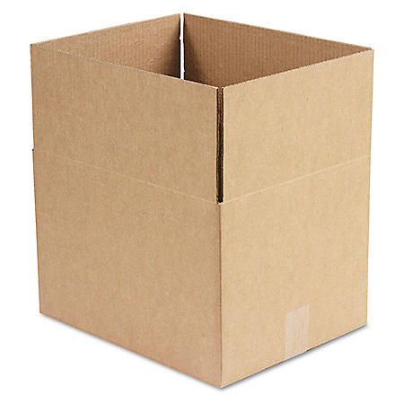 """General Supply Brown Corrugated - Fixed-Depth Shipping Boxes, 15"""" L x 12"""" W x 10"""" H, 25/Bundle"""