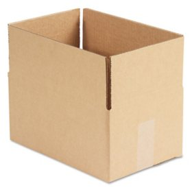 """General Supply Brown Corrugated - Fixed-Depth Shipping Boxes, 12"""" L x 8"""" W x 6"""" H, 25/Bundle"""