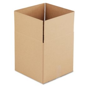 "General Supply Brown Corrugated - Cubed Fixed-Depth Shipping Boxes, 14"" L x 14"" W x 14"" H, 25/Bundle"