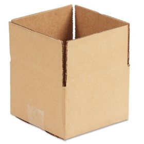 """General Supply Brown Corrugated - Fixed-Depth Shipping Boxes, 6"""" L x 6"""" W x 4"""" H, 25/Bundle"""